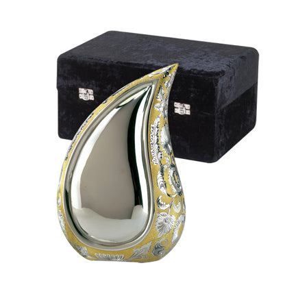 Two-Tone Tear Drop Urn