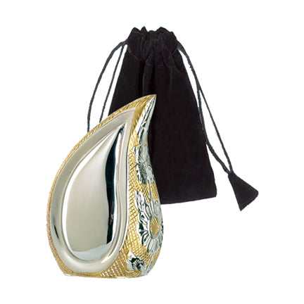Two-Tone Teardrop Keepsake Urn