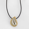 Two-Tone Teardrop Urn Pendant