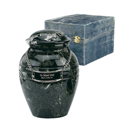 Infant/Youth Black Grain Marble Urn