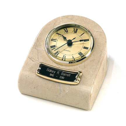 Cream Wash Clock Tower Keepsake Urn