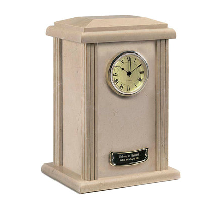 Cream Wash Clock Tower Urn