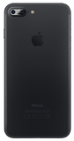 iphone 7plus, back black matte cover