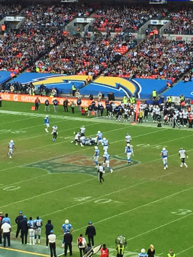 THE TITANS & THE CHARGERS AT WEMBLEY