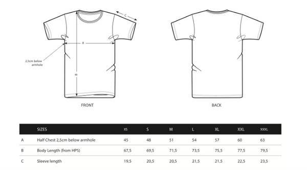 Voltage Sport Men' Sizing Chart