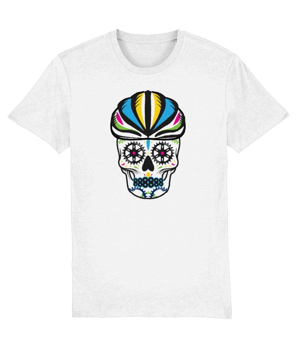 Colourful Cyclist Sugar Skull T-Shirt