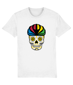 RAINBOW SUGAR SKULL CYCLING T-SHIRT