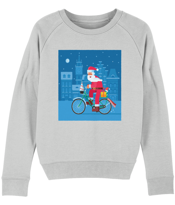 Santa on a Bike Women's Sweatshirt