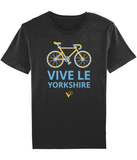 VIVE LE YORKSHIRE MEN'S CYCLING BLACK T-SHIRT