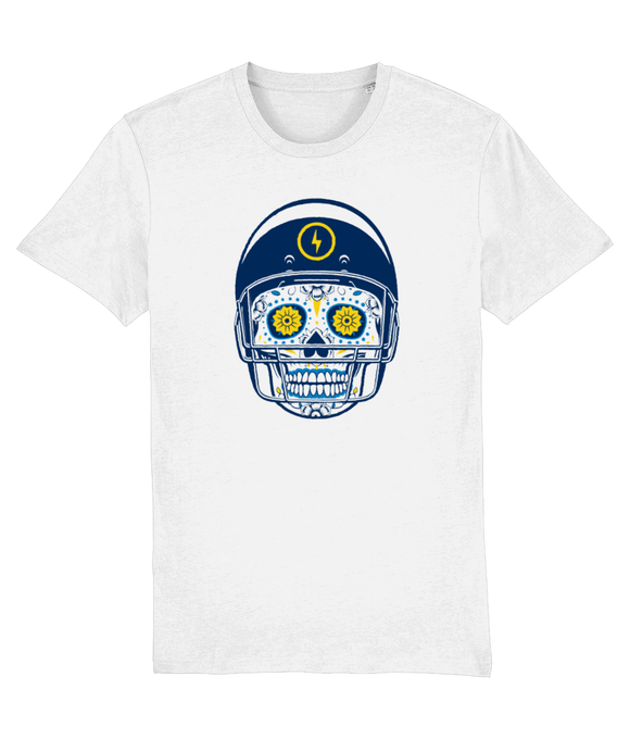 American Football Blue Sugar Skull T-Shirt