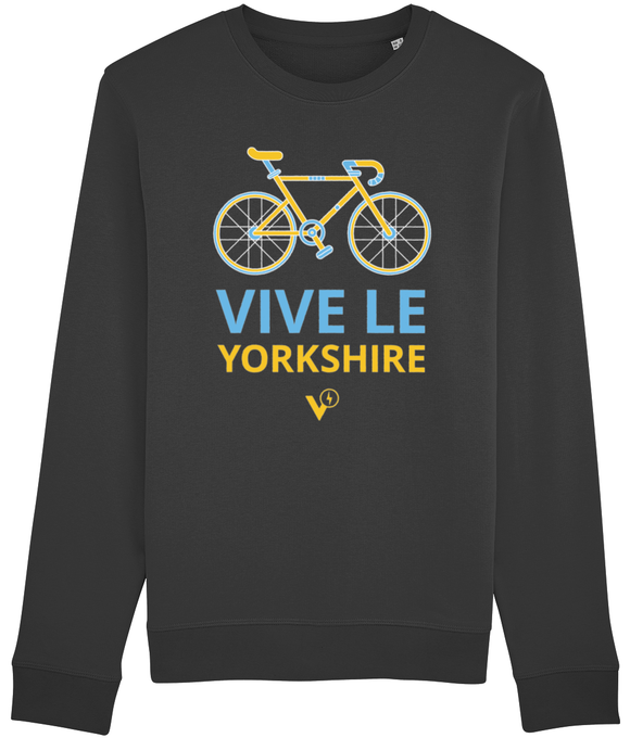 VIVE LE YORKSHIRE MEN'S CYCLING SWEATSHIRT