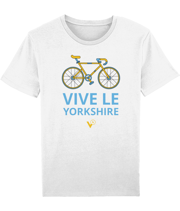 VIVE LE YORKSHIRE MENS WHITE CYCLING T-SHIRT