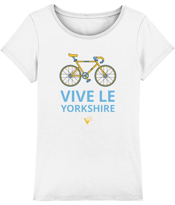 VIVE LE YORKSHIRE WOMEN'S WHITE CYCLING T-SHIRT