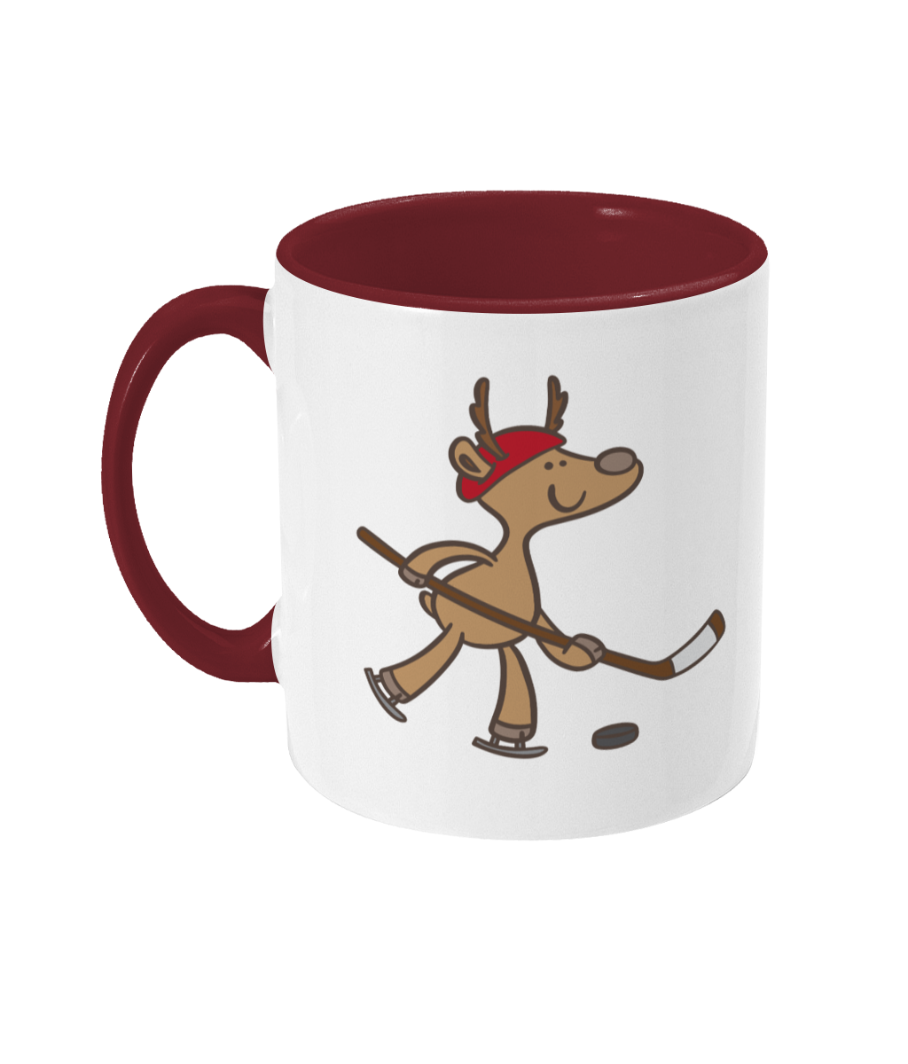 Reindeer Hockey Mug