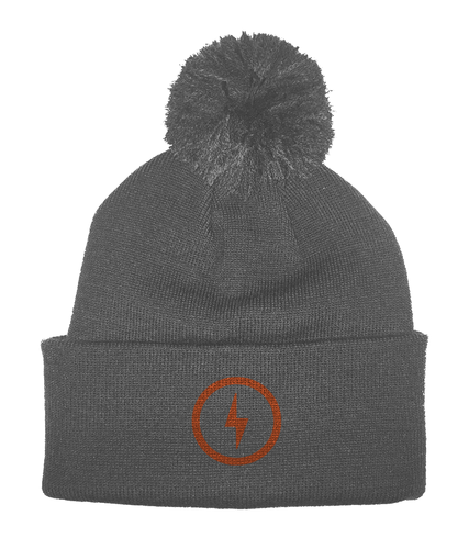 Bolt Pom Pom Beanie (Orange)