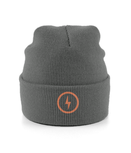 Bolt Cuffed Beanie (Orange)