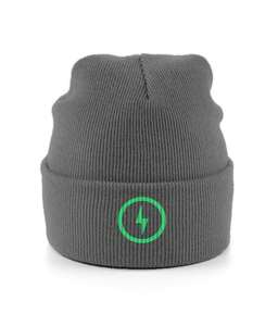 Bolt Cuffed Beanie (Green)