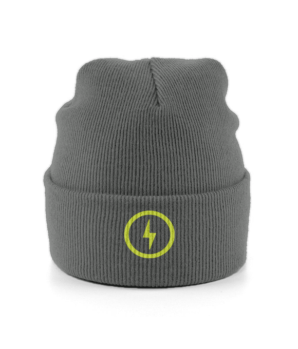 Bolt Cuffed Beanie (Yellow)