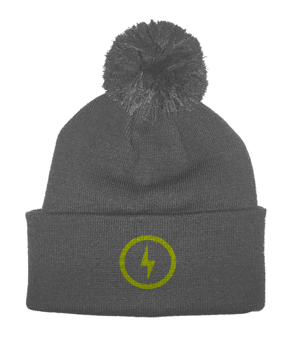 Bolt Pom Pom Beanie (Yellow)