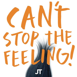 "Justin Timberlake Can't Stop The Feeling! (Colored Vinyl, Orange) 12"" 2016"
