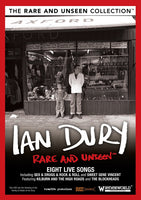 IAN DURY RARE AND UNSEEN DVD 2010 - 852 Entertainment