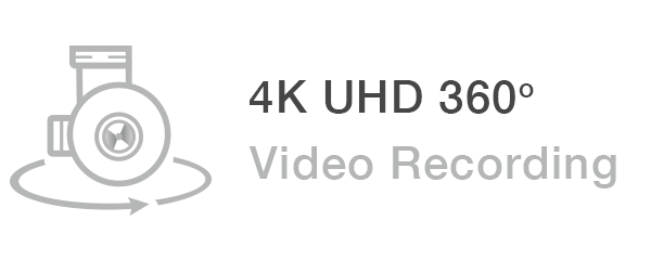 4k uhd 360 degree video recording
