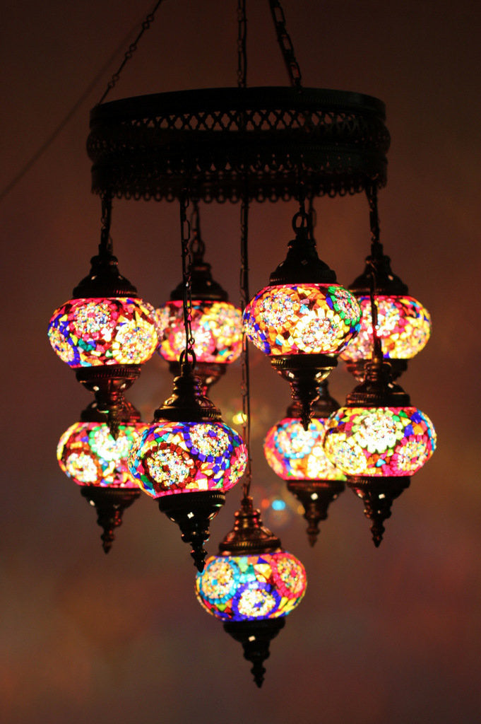 Turkish mosaic 9 globe chandelier lamp lamptastic turkish lamps turkish lamp turkish mosaic lamps turkish lighting lamps turkish aloadofball Image collections