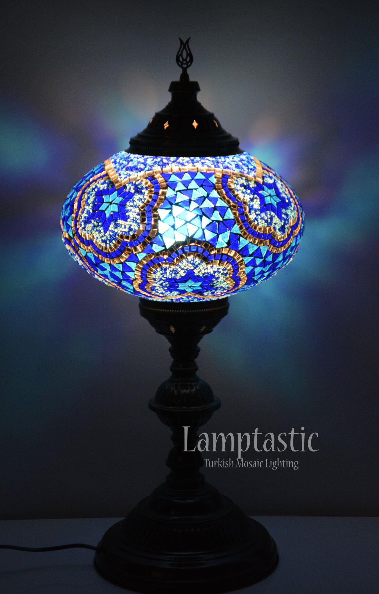 Large Blue Turkish Mosaic Glass Floor Lamp – Lamptastic