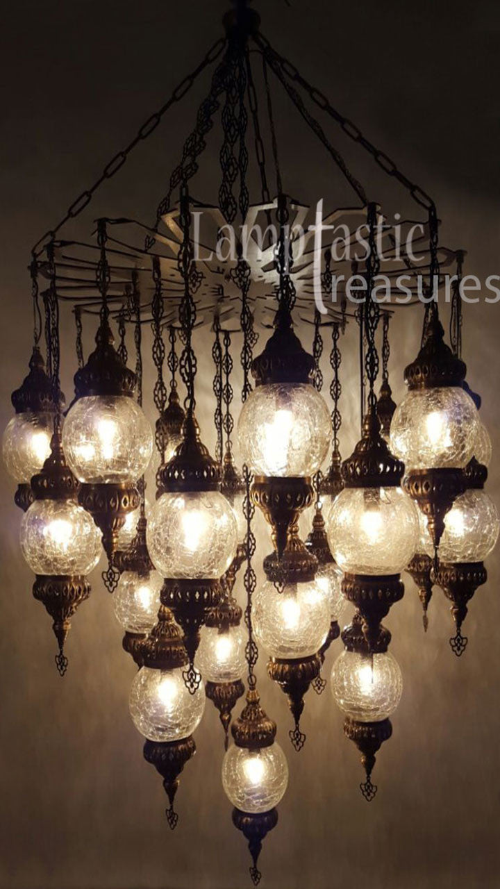 Large glass globe chandelier ceiling fixture lamptastic large glass globe chandelier ceiling fixture turkish lamps aloadofball Image collections