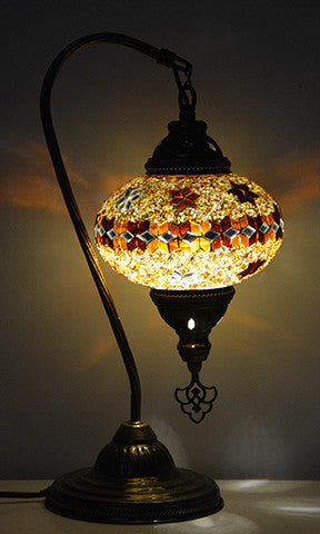 Table Lamp, Gold Table Lamp, Gold Moroccan Table Lamp, Turkish Lamps,  Turkish