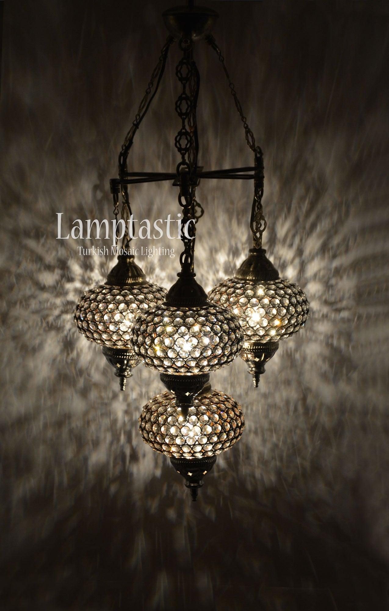 Large glass globe modern chandelier fixture lamptastic large glass globe modern chandelier fixture turkish lamps aloadofball Image collections