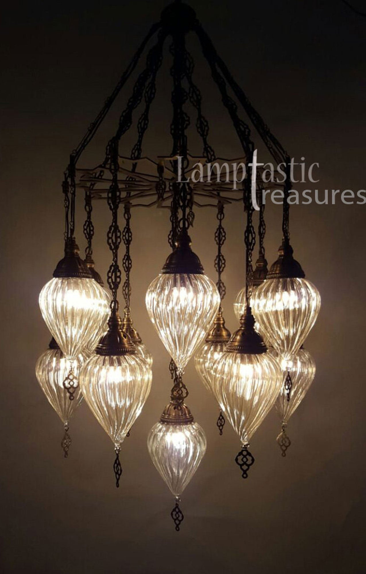 Modern Turkish Glass Chandelier – Lamptastic