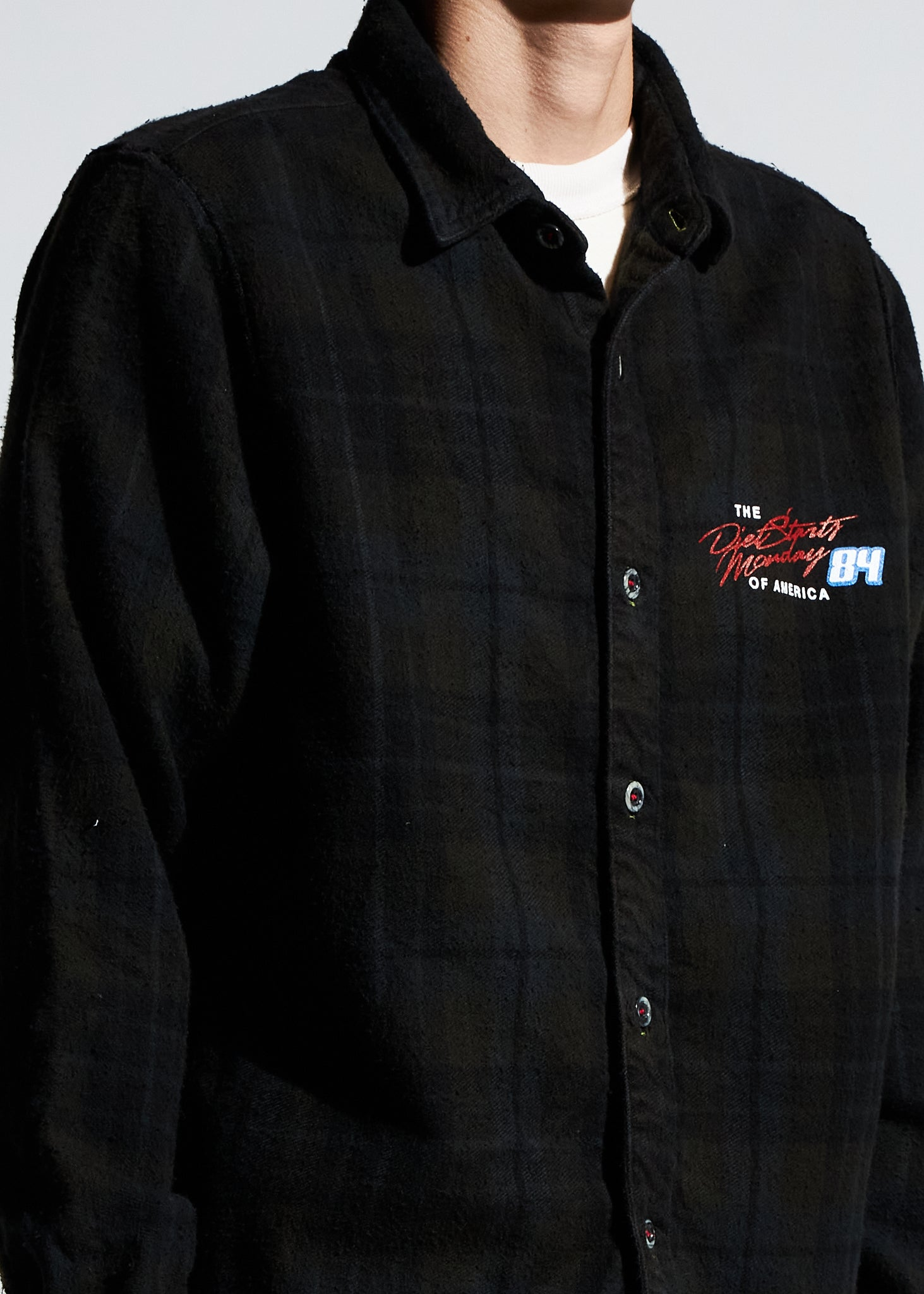 Feel the Power Flannel - Black