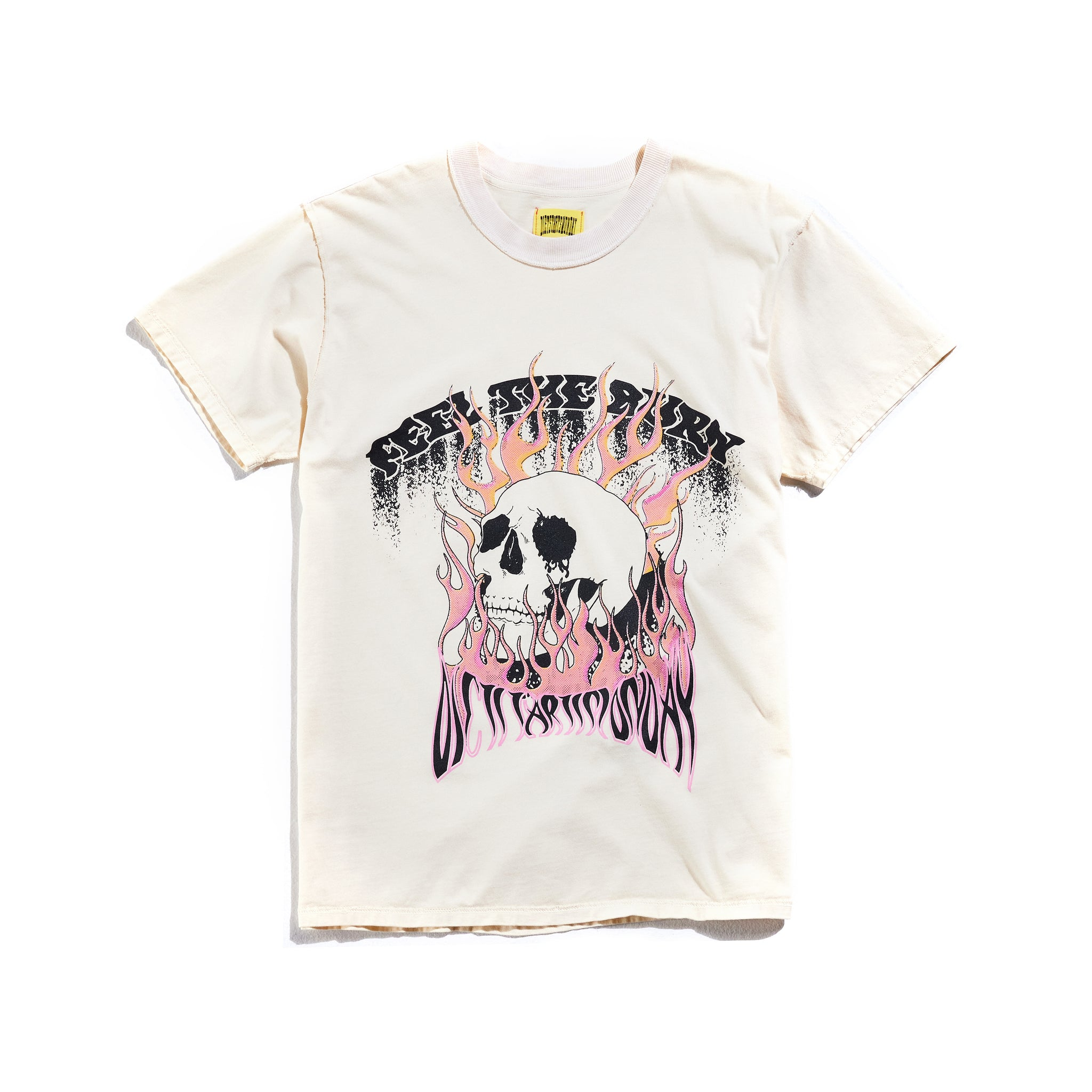 Feel the Burn Tee - Antique White