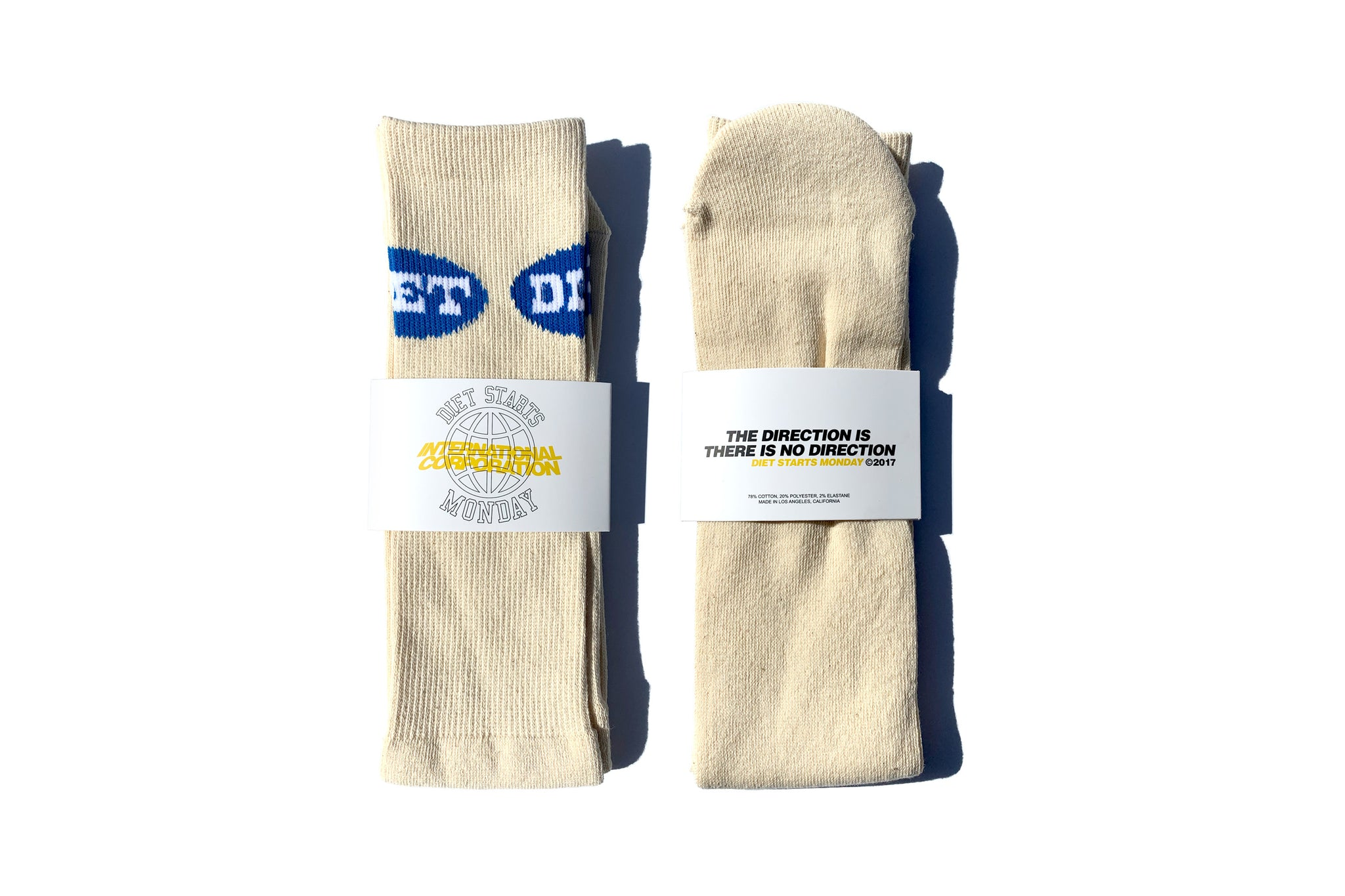 Diet Socks - Cream & Blue