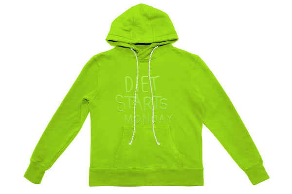 Embroidery Hoodie - Lime