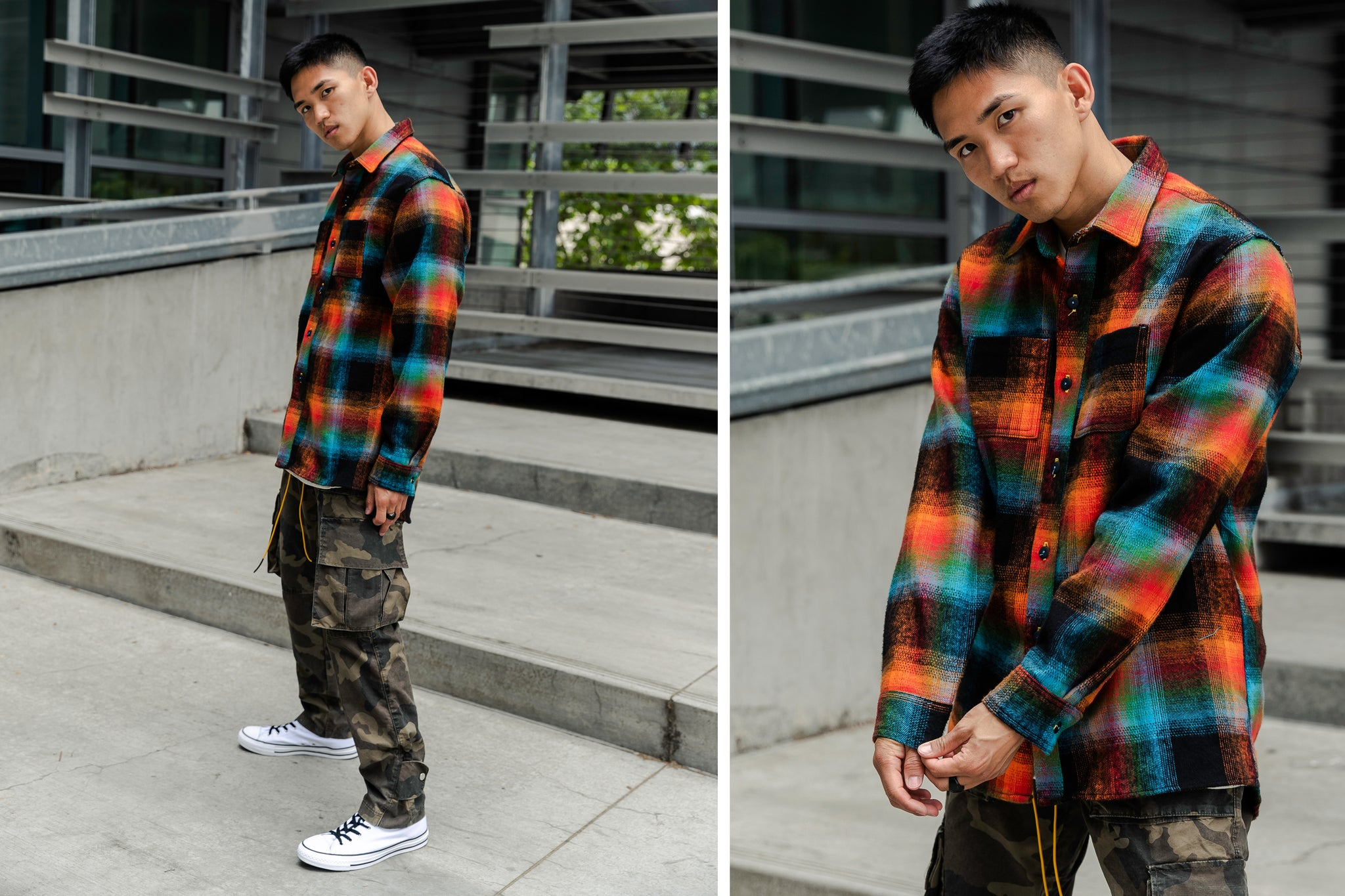 Flannel - Orange/Multi