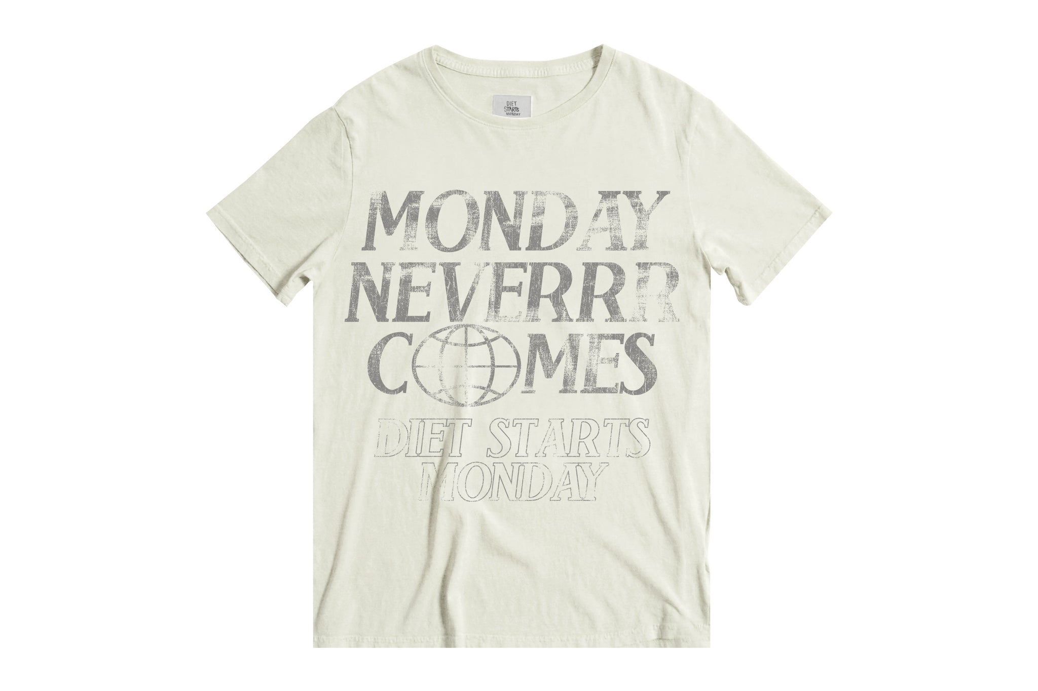 Monday Never Comes Tee - Antique White