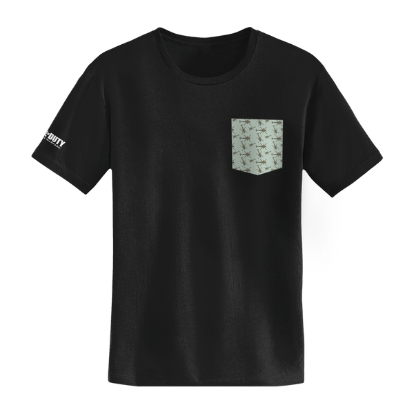 MW Crash Pattern Faux Pocket Tee