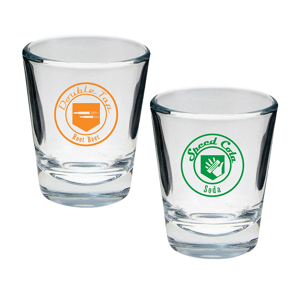Perk-a-Cola Double Tap and Speed Cola Shot Glasses