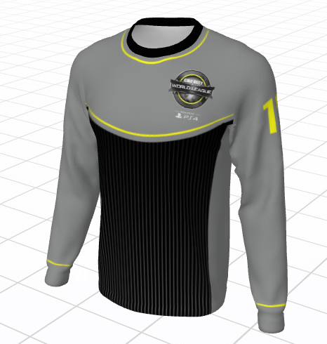 Custom 2017 World League Championship Long Sleeve Jersey - Gray