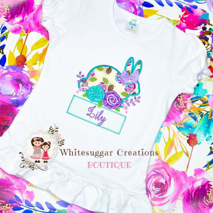 Floral Bunny Personalized Shirt