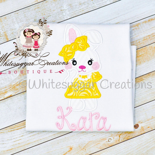 Easter Bunny with Dress and Pearls