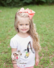 Bella Fleur Girl Shirt Girls Shirt Whitesuggar Creations