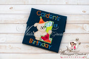 Boys Puppy Birthday Shirt Whitesuggar Creations