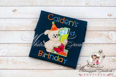 Boys Puppy Birthday Shirt