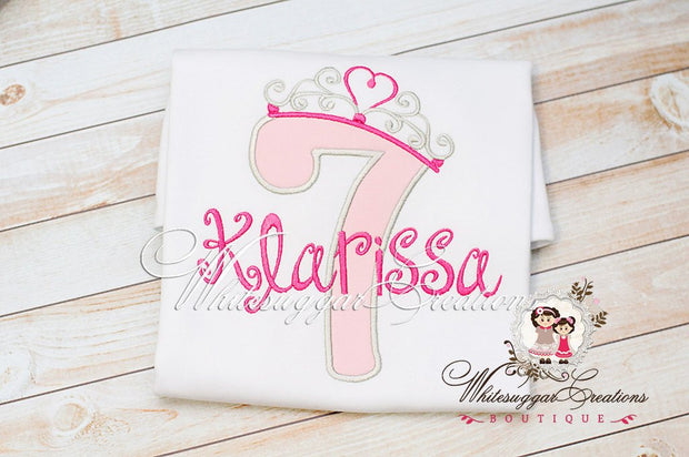 Princess Crown Birthday Shirt - Whitesuggar Creations Boutique