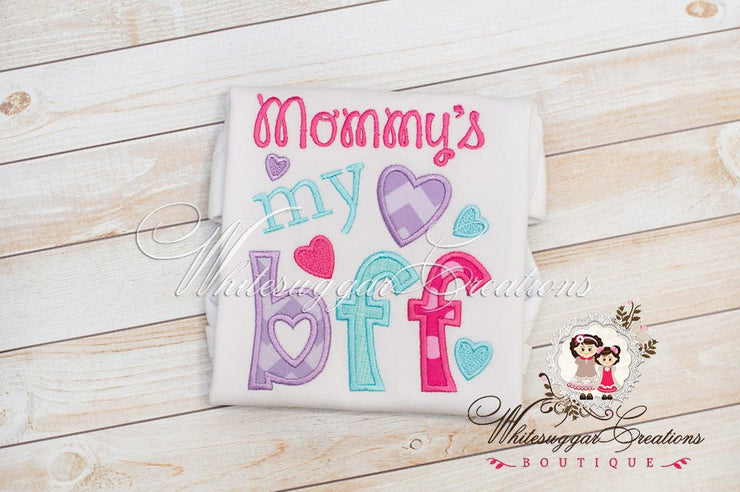 Mommy IS My BFF Shirt Girls Shirts Whitesuggar Creations Boutique