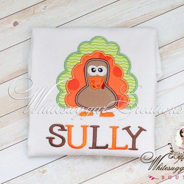 Boys Thanksgiving Turkey Shirt - Whitesuggar Creations Boutique