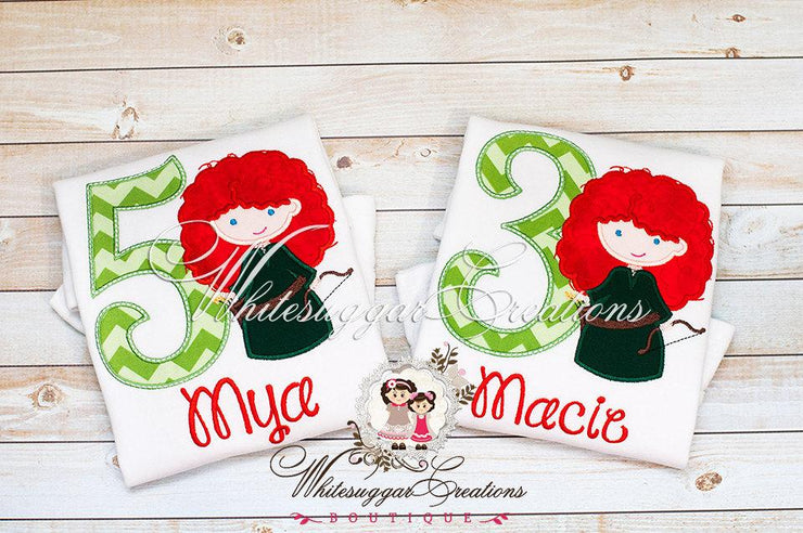 Embroidered Archer Princess Shirt Whitesuggar Creations Boutique